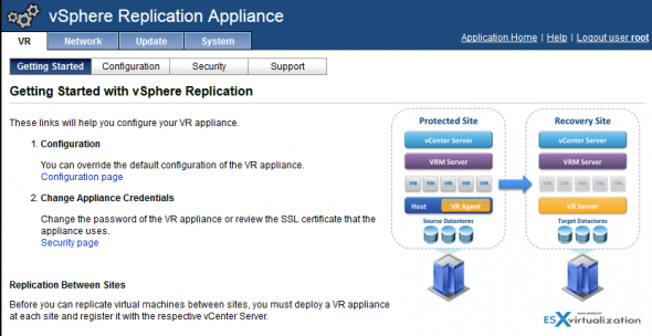 How to install and configure Vmware vSphere replication with single vCenter server