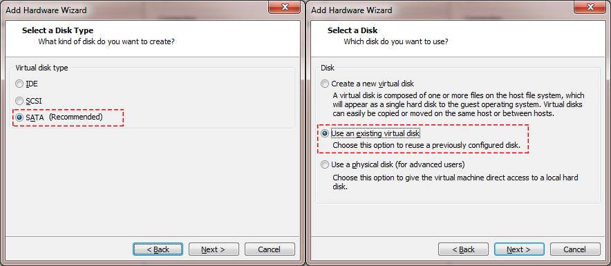 Edit Virtual Machine - Add Harddisk